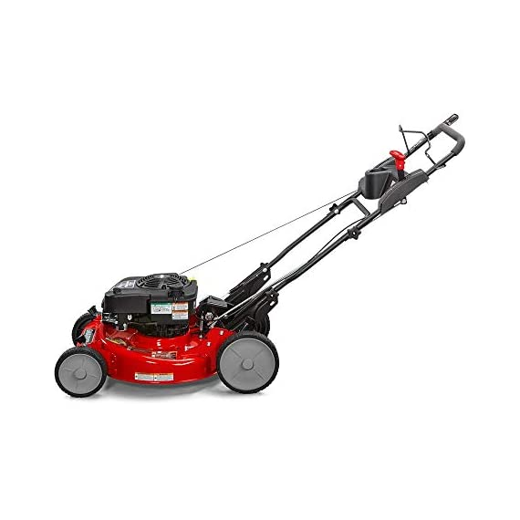 """Snapper RP2185020 / 7800981 NINJA 190cc 3-N-1 Rear Wheel Drive Variable Speed Self-Propelled Lawn Mower with 21-Inch Deck and Ready Start System, Ninja Mulching Blade and 7 Position Heigh-of-Cut 3 <p>Snapper RP2185020 NINJA Series Lawn Mower. Best mower for mulching fans, the Snapper Ninja walk-behind lawn mower's powerful blade with 6 cutting surfaces finely mulches grass clippings while the deck blows them back into your yard. This Snapper 21"""" lawn mower features a rear wheel drive system with high 10"""" rear wheels for superior traction on hills & thick grass. The reliable Briggs & Stratton professional series OHV engine keeps you going with professional-grade features from ready start technology to quieter operation & increased durability. Briggs & Stratton 850 professional Series engine with ready start starting system no priming, no choking. Just pull and go Rear wheel drive improves walk behind mower traction and the smooth turn differential helps ensure easy maneuverability without damaging your grass Ninja blade features 6 powerful cutting surfaces to finely mulch your grass while the deck design blows them back into the lawn Rugged solid Steel front Axle and stamped Steel mower deck provides long lasting performance season after season Easily change the height of cut with the easy to use adjustment handles (7 height of cut adjustments from 1.25 Inch to 4 inch)</p>"""