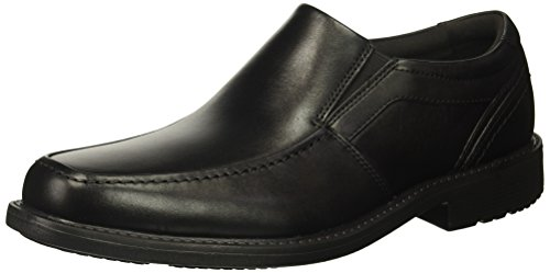 Rockport Men's Style Crew Moc Toe Slip On Oxford- Black-7 W (Rockport Moc Toe)