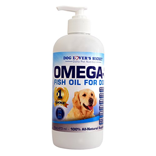 Dog Lover's Secret Omega 3 Fish Oil For Dogs, 16 oz Pump Bottle