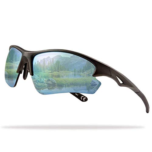 Flux Rainier Outdoor Sports Sunglasses for Men Women with PC Polarized Lenses