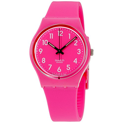 Swatch Originals Dragon Fruit Soft Pink Dial Silicone Strap Unisex Watch GP128K