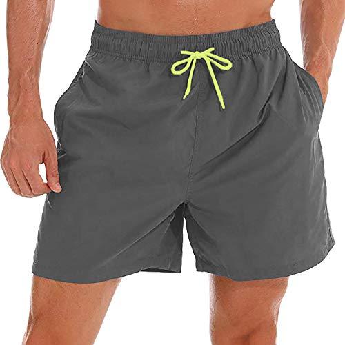 FASKUNOIE Men's Swim Trunks Quick Dry Board Bath Shorts Beach Casual Wear with Pockets