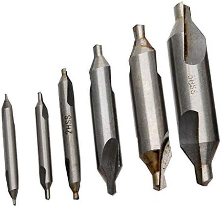 gazechimp HSSセンタードリルビットセット結合さら穴60度1 / 1.5 / 2/3/4 / 5mm