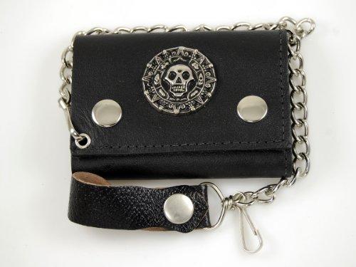 Biker Chain Wallet Genuine Leather