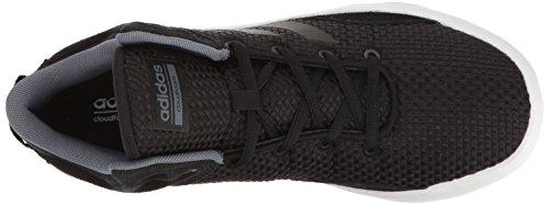 adidas Men's Cloudfoam Revival Mid Basketball Shoe, BlackOnixWhite, 10 D Medium