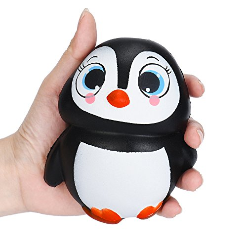 Christmas Best Toy Gift!!!Kacowpper Cute Penguins Squishy Slow Rising Cream Scented Decompression Toys -
