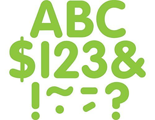 Teacher Created Resources Lime Classic 2-Inch Letters Uppercase Pack (5559)