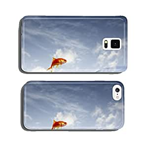 goldfish jumping out of the water from a crowded bowl cell phone cover case iPhone5