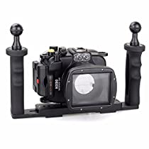 EACHSHOT 40m/130ft Underwater Diving Camera Housing for Sony HX90 + Two Hands Aluminium Tray
