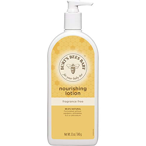 Burt's Bees Baby Nourishing Lotion, Fragrance Free Baby Lotion - 12 Ounce Bottle