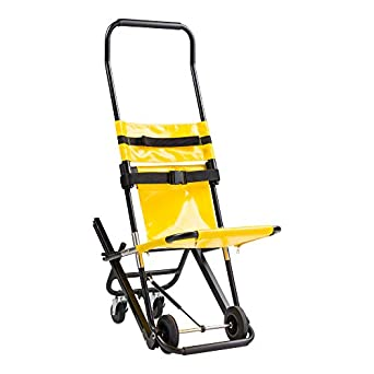 LINE2design EMS Stair Chair - Ambulance Firefighter Evacuation Medical Lift Stair Chair 4 Wheels Stair Chair 350 lb - Yellow