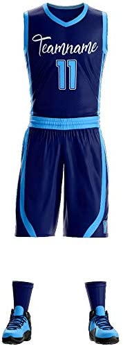 Custom Basketball Jerseys for Men/Women/Kids Personalized Sports Basketball Uniform Kit Training Tracksuit