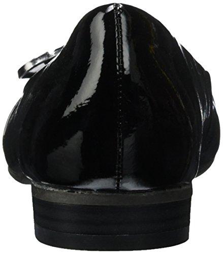 Marco Tozzi 22105 - Bailarinas de material sintético para mujer Negro (Black 001)