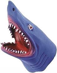 Novelty Treasures Blue Stretchy Soft Shark Hand Puppet