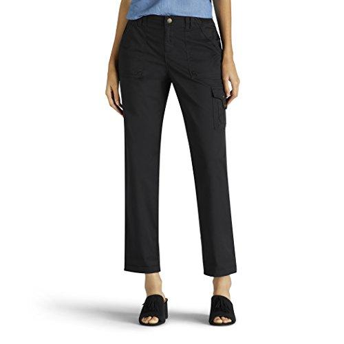 (LEE Women's Relaxed Fit Santiago Knit Waist Capri Pant, Black, 4)