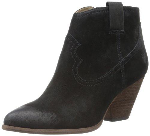 Frye Ankle mujer Buffed Nubuck de Boot la Reina Black 7xr7q6B
