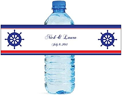 """100 Floral Label Wedding Anniversary Engagement Party Water Bottle Labels 8/""""x2/"""""""