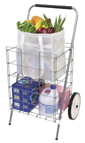 (The Faucet Queen Folding Shopping Cart with Shelf)