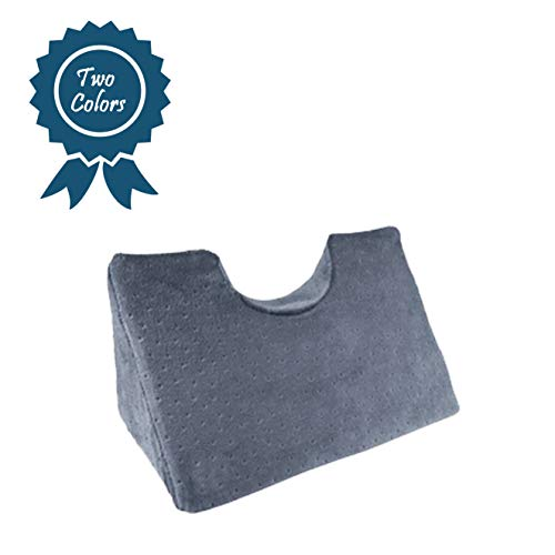 Chiropractic Cervical Traction Neck Wedge Pillow - Optimal for Neck & Shoulder Pain Relief - Spinal Curve Alignment - Chiropractic Adjustment and More (Grey)