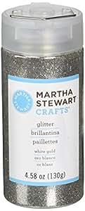 Martha Stewart Crafts Fine Glitter, White Gold, 4.58 Ounces