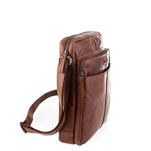 Spikes & Sparrow Bronco 10 Borsa a tracolla marrone scuro