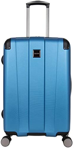 Kenneth Cole Reaction Continuum Hardside 8-Wheel Expandable Upright Spinner Luggage, Vivid Blue, 24-inch Check Only