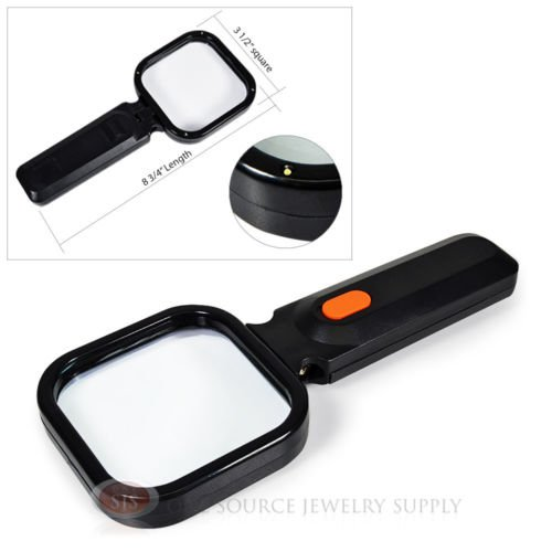 4X Magnifier Illuminated Magnifying Glass LED Lighted Swi...