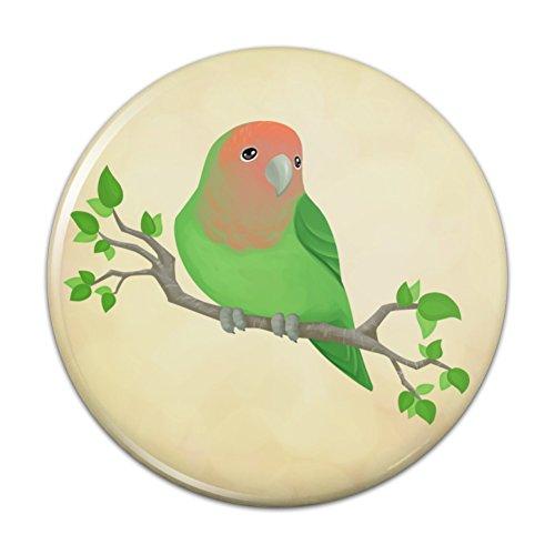 Pinback Love Button (Lovely Lovebird Pinback Button Pin Badge - 1