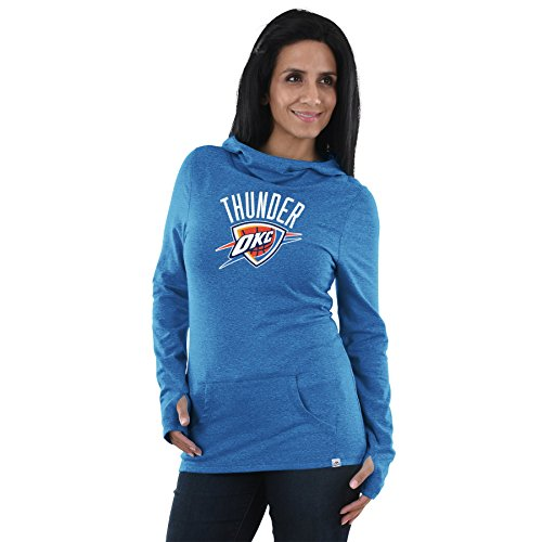 (Oklahoma City Thunder NBA Women's We Play To Win Cowl Neck Hooded Long Sleeve Shirt)