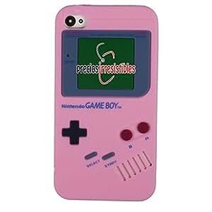 Funda iPhone 4G Silicona Gameboy Rosa