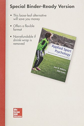Loose Leaf for Applied Sport Psychology with Connect Access Card