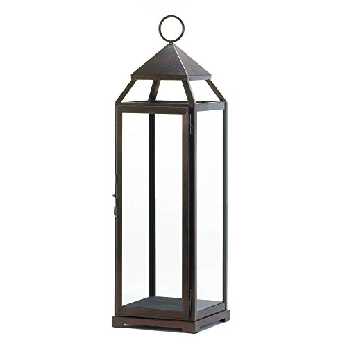 Home Locomotion Extra Tall Bronze Contemporary Lantern,