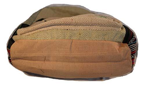 Mochila de fibra de cáñamo/ Mochila de cáñamo / mochila de día de cáñamo / mochila para la escuela, viajes, ocio, exterior, deporte - con compartimiento ...
