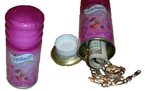 Ladys-Pink-Skintimate-Shaving-Gel-CAN-SAFE-stash-diversion-hide-cash-jewelry-box-METAL-BANK