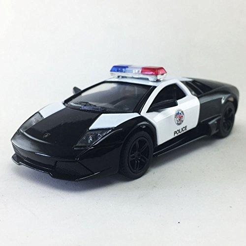 (Lamborghini Murcielago LP640 LAPD Police Squad Car Black Kinsmart 1:36 DieCast Model Toy Car Collectible )