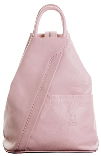 Italian Soft Napa Pink Leather Top Handle Shoulder Bag Rucksack Backpack. Includes Branded Protective Storage Bag ()