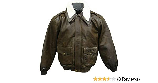 61f1f5704a3 Amerileather Men s Distressed Brown Leather Bomber Jacket XL at Amazon Men s  Clothing store  Leather Outerwear Jackets
