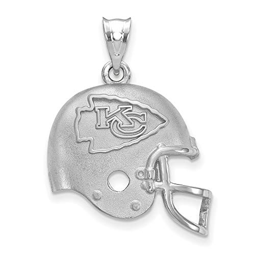 NFL Sterling Silver LogoArt Kansas City Chiefs Football Helmet Logo Pendant - Logo Pendant 14kt Gold Jewelry