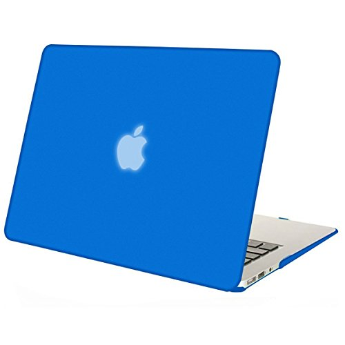 Mosiso Plastic Hard Case Cover for MacBook Air 13 Inch (Models: A1369 and A1466), Royal Blue