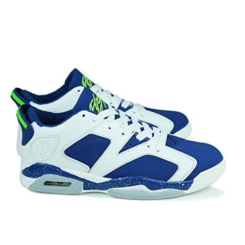 Unisex botas caño LFEU adulto de bajo azul blanco vIqawB7ZK