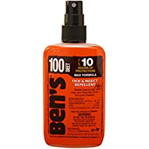 Ben's 100% DEET Mosquito, Tick and Insect Repellent Pump Spray, Repel Insects, Maximum Long Lasting Bug Protection, Fragrance Free, TSA Approved, Airplane Travel Size, Best Full Coverage, 3.4oz