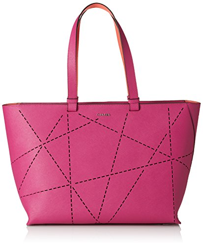 Calvin Klein Sofie perforated large Tote, Borse da donna Rosa