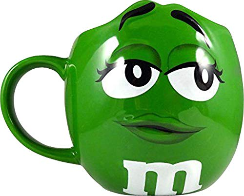 M&Ms Fun Sculpted Face Extra Large 24 oz Ceramic Coffee Tea Mug -