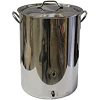 Strange Brew Brewer's Best 8 gal Stainless Steel Homebrewing Kettle with Two Ports