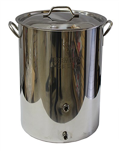 Strange Brew Brewer's Best 8 gal Stainless Steel Homebrewing Kettle with Two Ports by Strange Brew