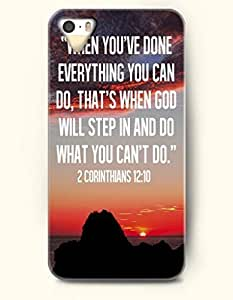 Case For Ipod Touch 5 Cover Hard Case (Case For Ipod Touch 5 Cover C Excluded) **NEW** Case with Design When You'Ve Done Everything You Can Do, That'S When God Will Step In And Do What You Can'T Do 2 Corinthians 12:10- ECO-Friendly Packaging - Bible Quotes Series (2014) Verizon, AT&T Sprint, T-mobile