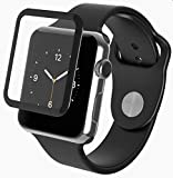 Jump Start Apple iWatch Screen Protector 44mm, 5D Full Adhesive Advanced Touch Sensitive Screen Coverage Tempered Glass, Anti-Scratch Resistant Screen Compatible with iWatch 44mm Series 4 [Black]