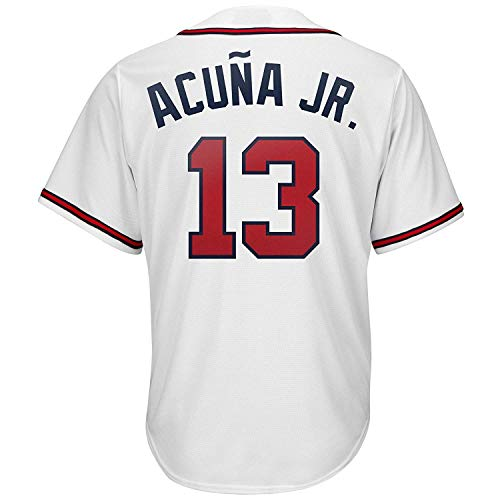 Men's/Women/Youth_Atlanta_Ronald_Acuna_Jr_#13_White_Alternate_Cool_Base_Player_Jersey
