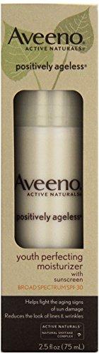Aveeno, Facial Moisturizers Positively Ageless, Youth Perfecting Moisturizer, SPF 30, 2.5 fl oz