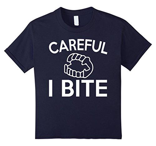 Kids Fake Vampire Teeth T Shirt ~ I Bite Halloween Shirt 12 (Fake Vampire Bites For Halloween)